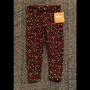 NWT Just Cozy leggings made in Canada size 2T
